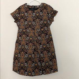 Boohoo tapestry mini dress